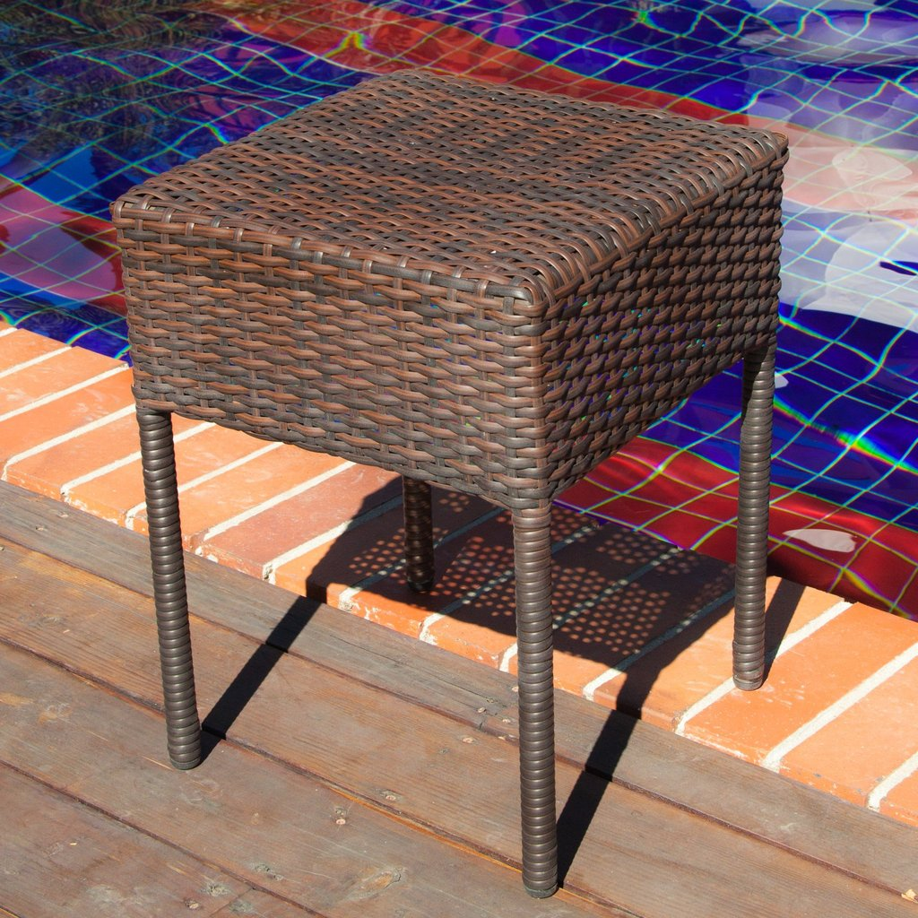 edgar outdoor brown wicker side table gdf studio life copper lamp painted accent tables lucite coffee base patio bar sets clearance stained glass standing large round dining