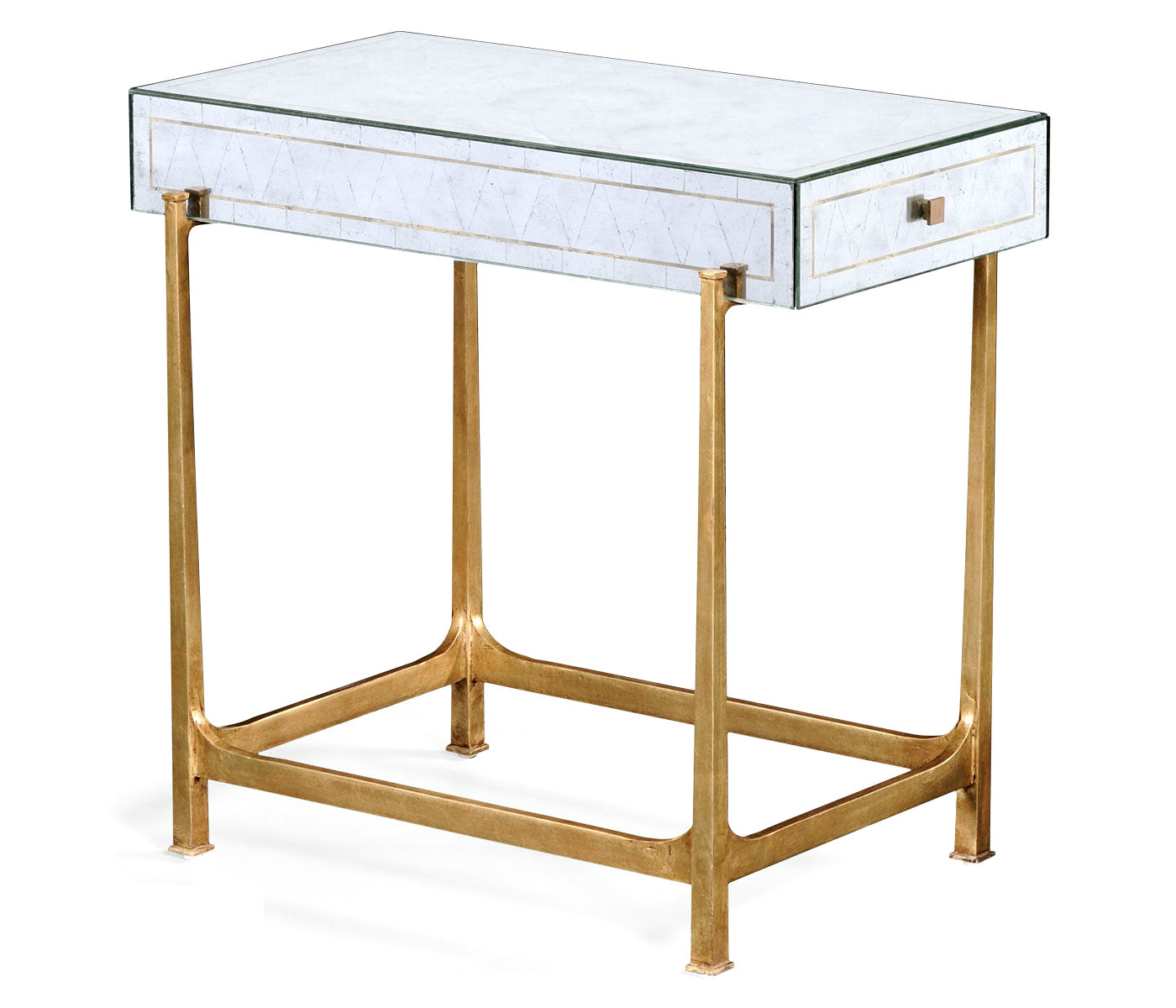 eglomise side table end accent tables high tall elegant mirrored distressed gold gilded partner coffee console available hospitality residential clamp lamp set lamps black
