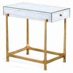eglomise side table end accent tables tall gold elegant mirrored distressed gilded partner coffee console available hospitality residential bar height legs butterfly tiffany lamp 150x150