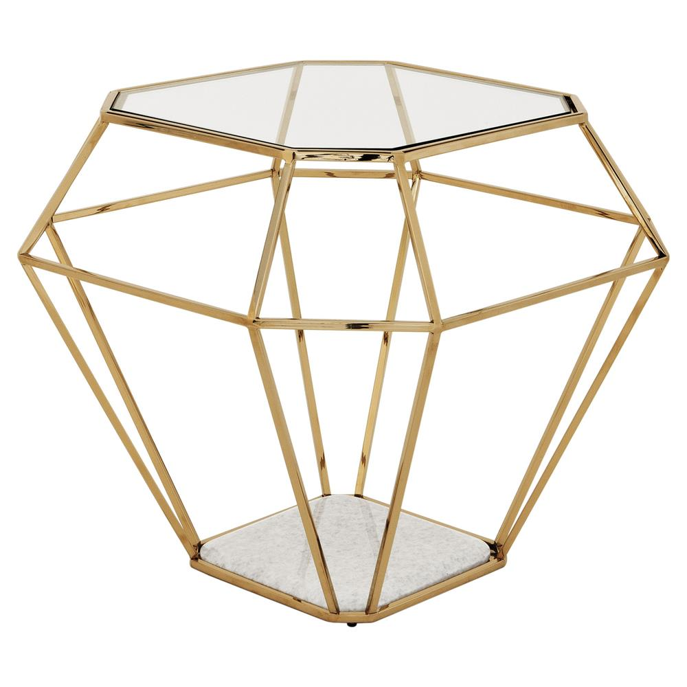 eichholtz adler hollywood gold frame diamond shape glass side table product mirrored accent kathy kuo home furniture astoria light colored wood end tables small kitchen lamp round