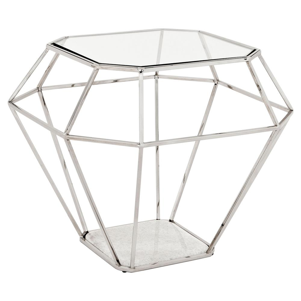 eichholtz adler hollywood nickel frame diamond shape glass side table product mirrored accent kathy kuo home linens linen rentals sofa for small space living room pier imports