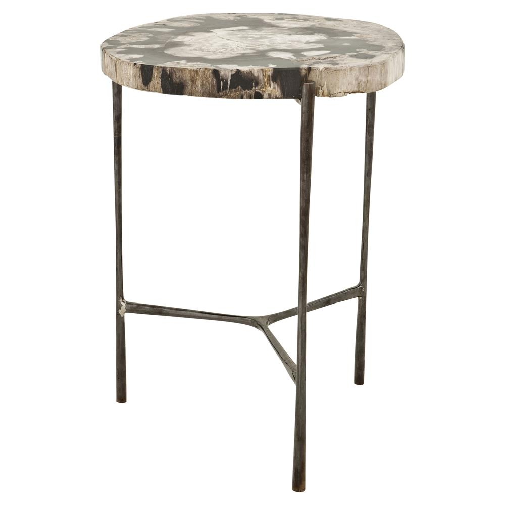 eichholtz boylan rustic loft petrified wood round side table product accent kathy kuo home lighting seattle percussion stool square nesting tables cherry wedge end plastic ideas