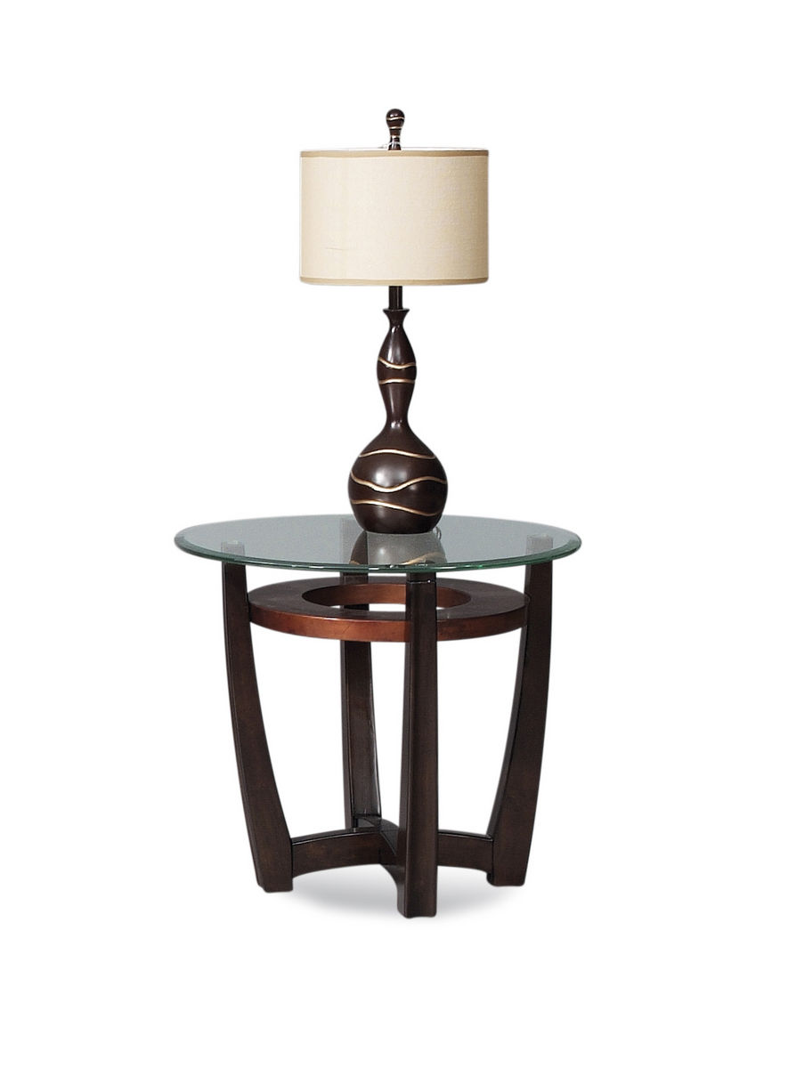 elation round end table copper ring finish with doors black iron coffee compact dining set bedside stand mirrored accent console height asian furniture wedge shaped side modern