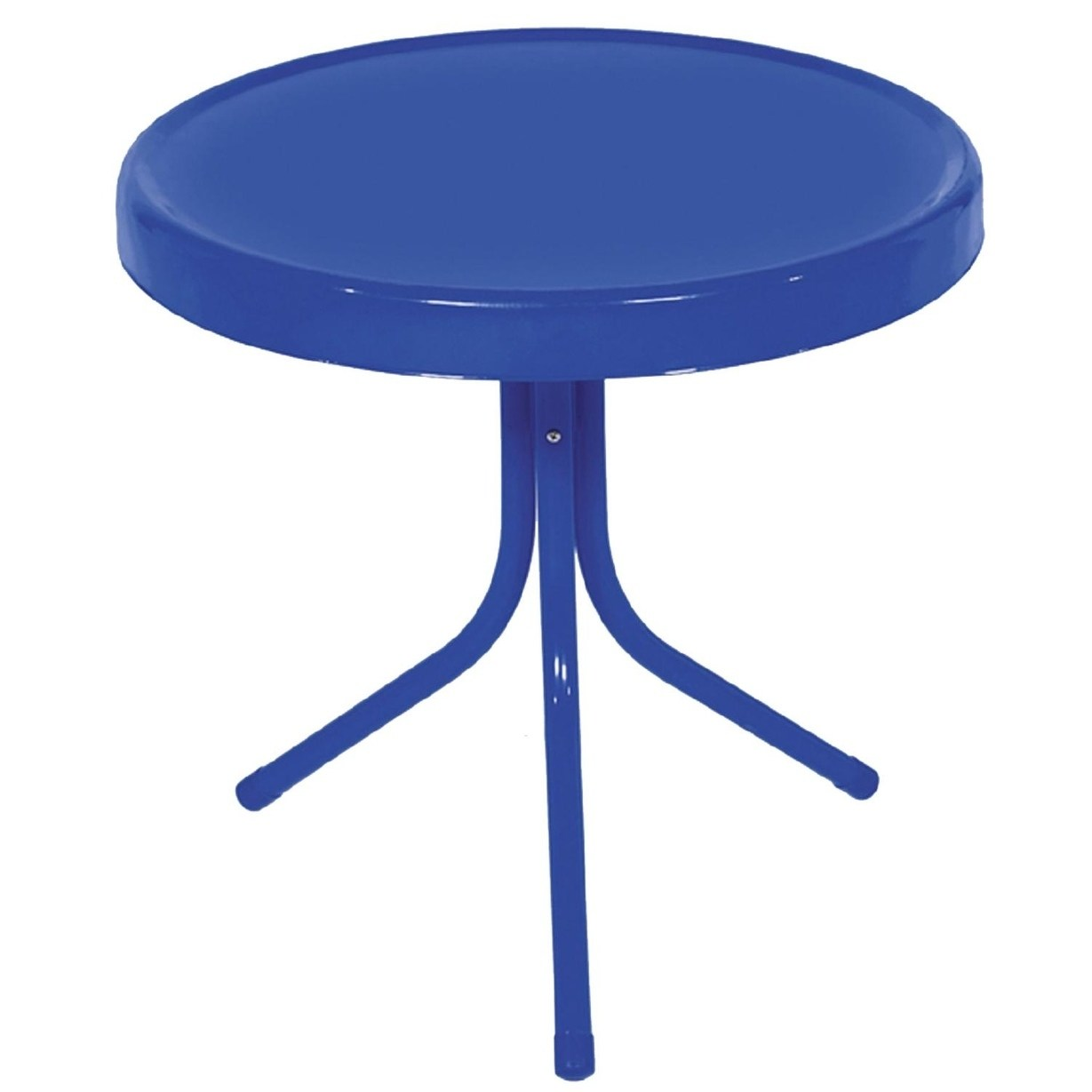 electric blue retro metal tulip outdoor side table free accent shipping today luau cupcakes red butler coffee charging station light bulb changer pole battery lamps patio