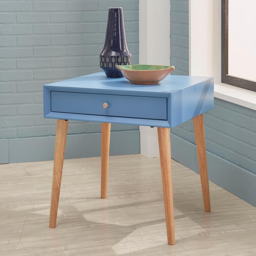 elegant blue accent table with metal bedside furniture amazing homesullivan wyatt mid century the oil rubbed bronze small white gloss console pedestal end patio tables bedroom