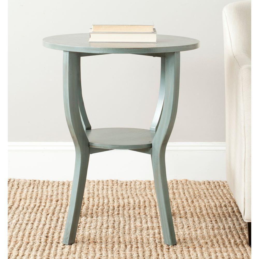 elegant blue accent table with metal bedside furniture lovable safavieh rhodes stell the computer target and home decor spotlight lamp west elm oblong cover ice bucket holder
