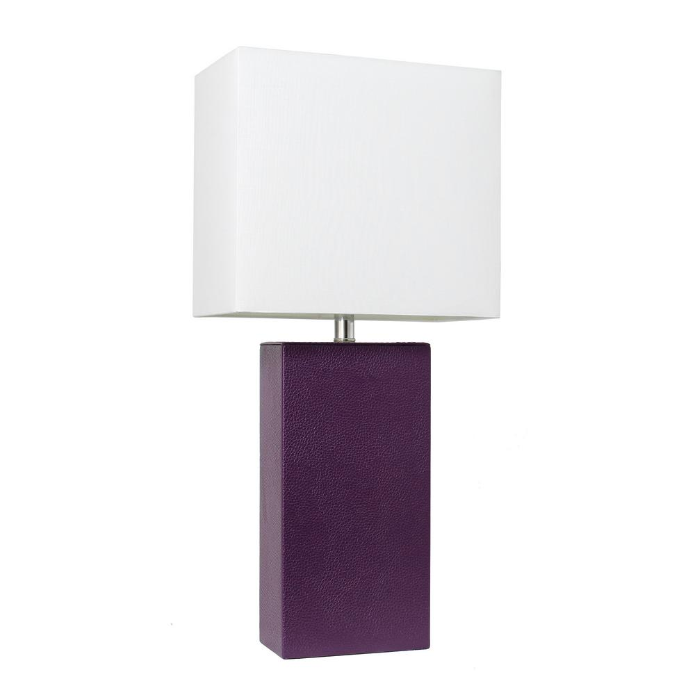 elegant designs avenue modern eggplant leather table lamps egp crate and barrel marilyn accent lamp with white fabric shade ships lantern gallerie art target stools benches combo