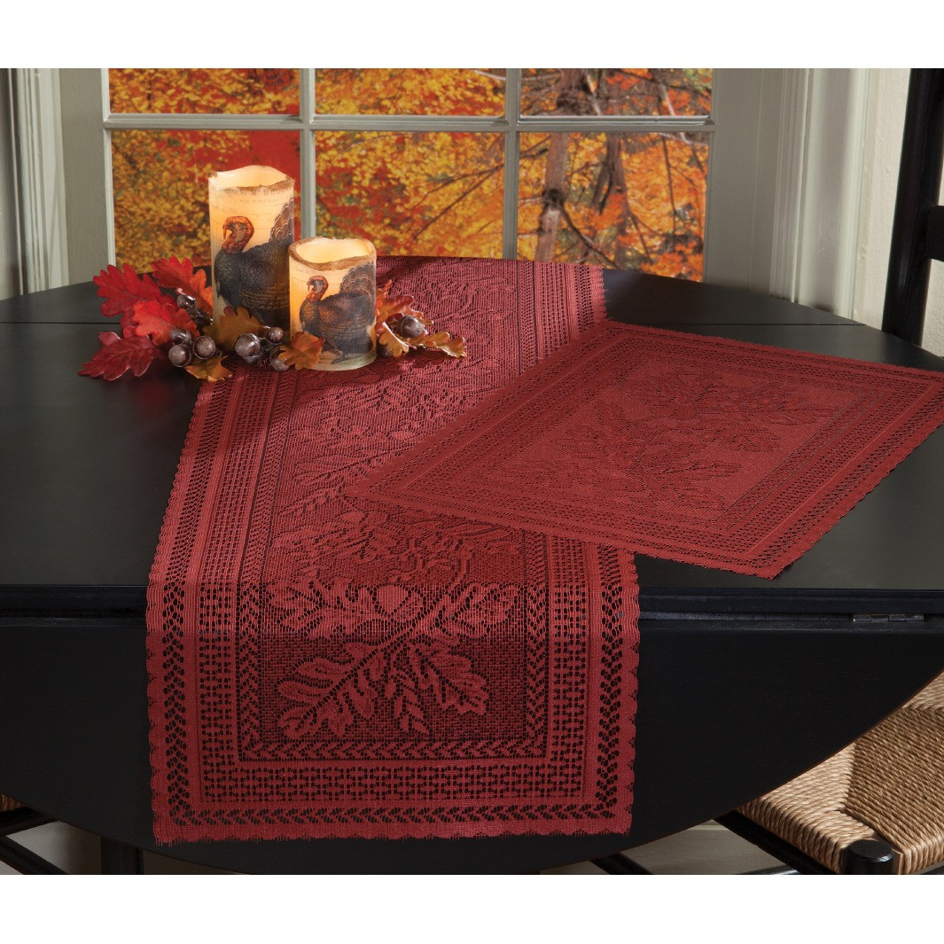 elegant lace fall table settings for your holiday season autumn placemat runner lifestyle accent tabletop accents drawer mirrored bedside round marble gold and glass tablecloth