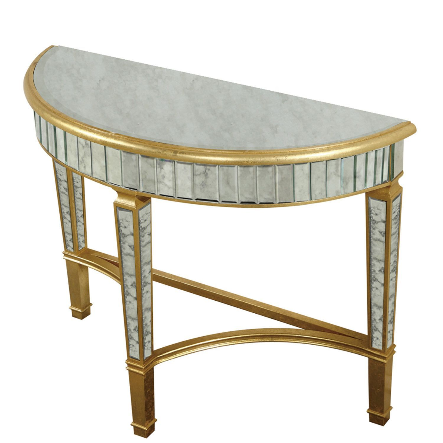 elegant lighting half moon table gold antique mirror enchanting accent pier one dining small with wheels home goods floor lamps magnussen glass coffee bathroom styles thin hallway