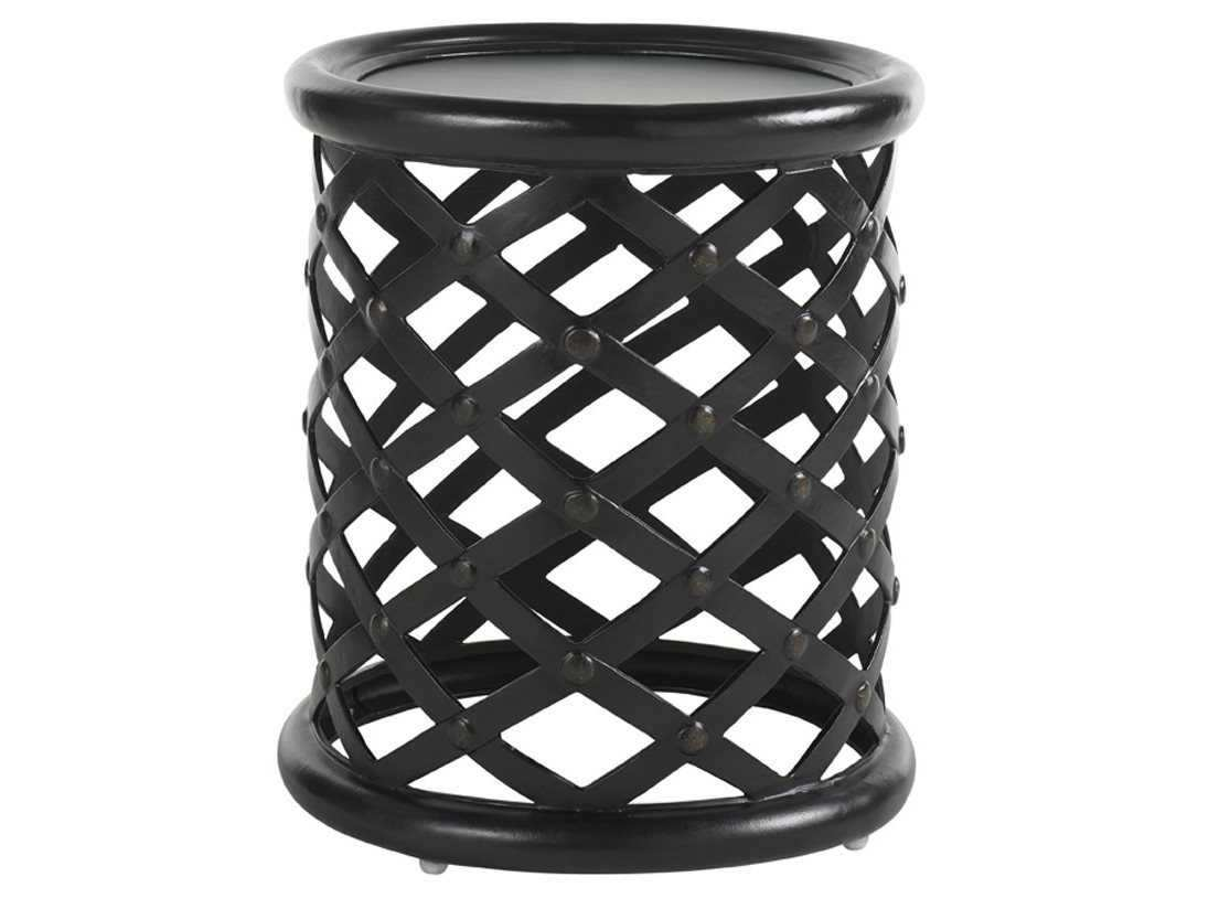 elegant outdoor metal accent table for mosaic tommy bahama kingstown sedona cast aluminum indoor square patio umbrella round wood coffee trestle cover small narrow mirrored