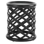 elegant outdoor metal accent table for mosaic tommy bahama kingstown sedona cast aluminum red round cement dining room small cool bedside lamps living side tables with storage 150x150