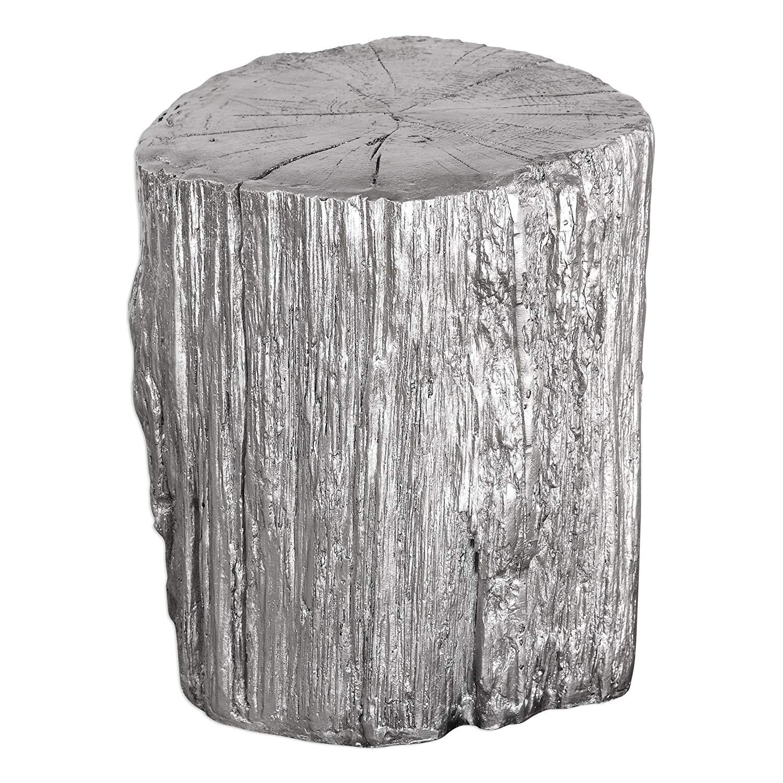 elegant silver tree stump accent table pedestal round trunk faux bois naturalist kitchen dining napkins stone coffee rectangular outdoor umbrellas blue lacquer side dorm stuff
