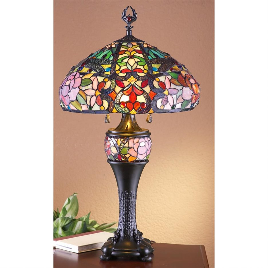 elegant table lamps stained glass lamp shades accent chloe lighting tiffany style floor type west elm herman miller dressers furniture nightstand target shabby chic shelves
