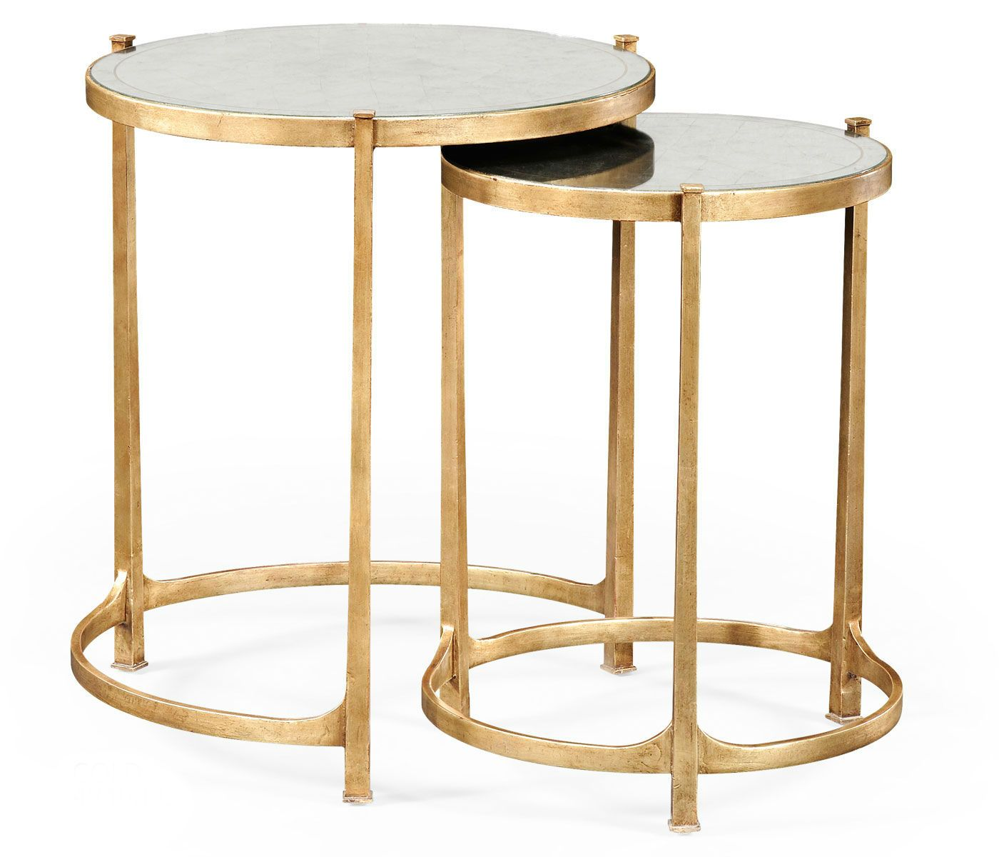 elegant tall antiqued mirrored nesting tables gold accent table gilt partner side end console coffee available hospitality antique dining chairs butterfly tiffany lamp modern