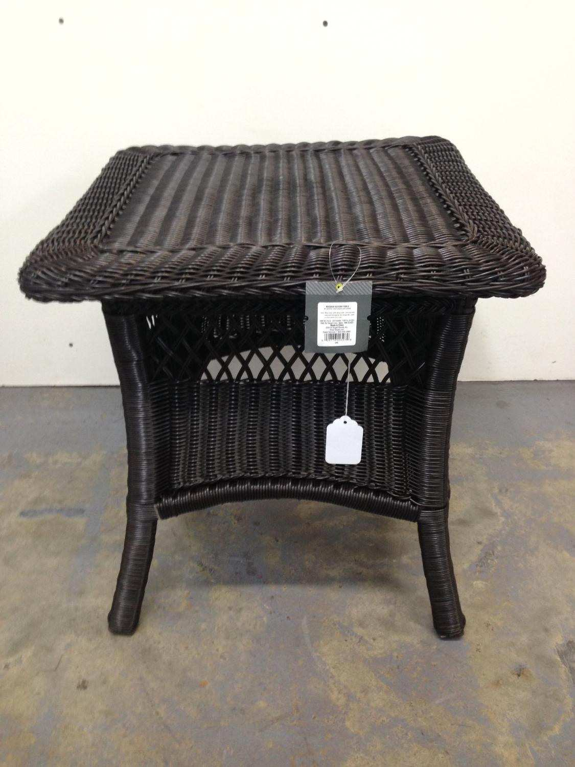 elegant threshold glass patio accent table with owings lovely best brand new wicker for mahogany nest tables unique console cabinets coastal style lighting long pier one hayworth