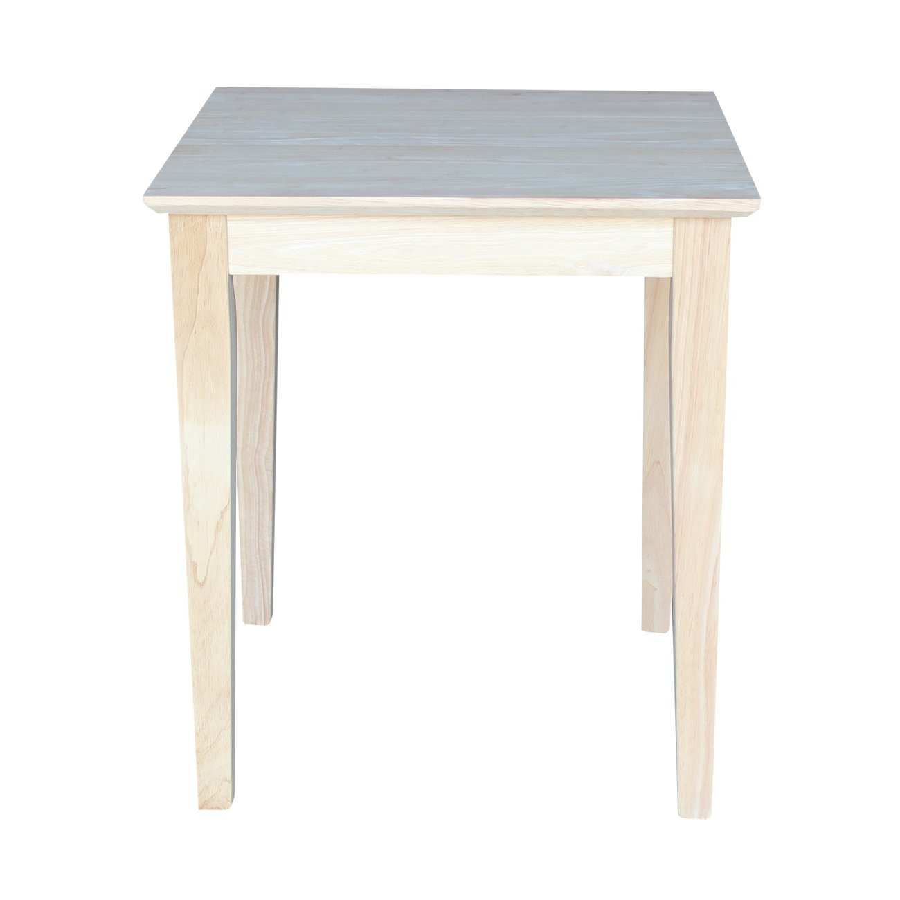 elegant unfinished wood side table for solid shaker cabinet end luxurious international concepts amp reviews accent ikea white bench round outdoor cocktail homemade rustic coffee