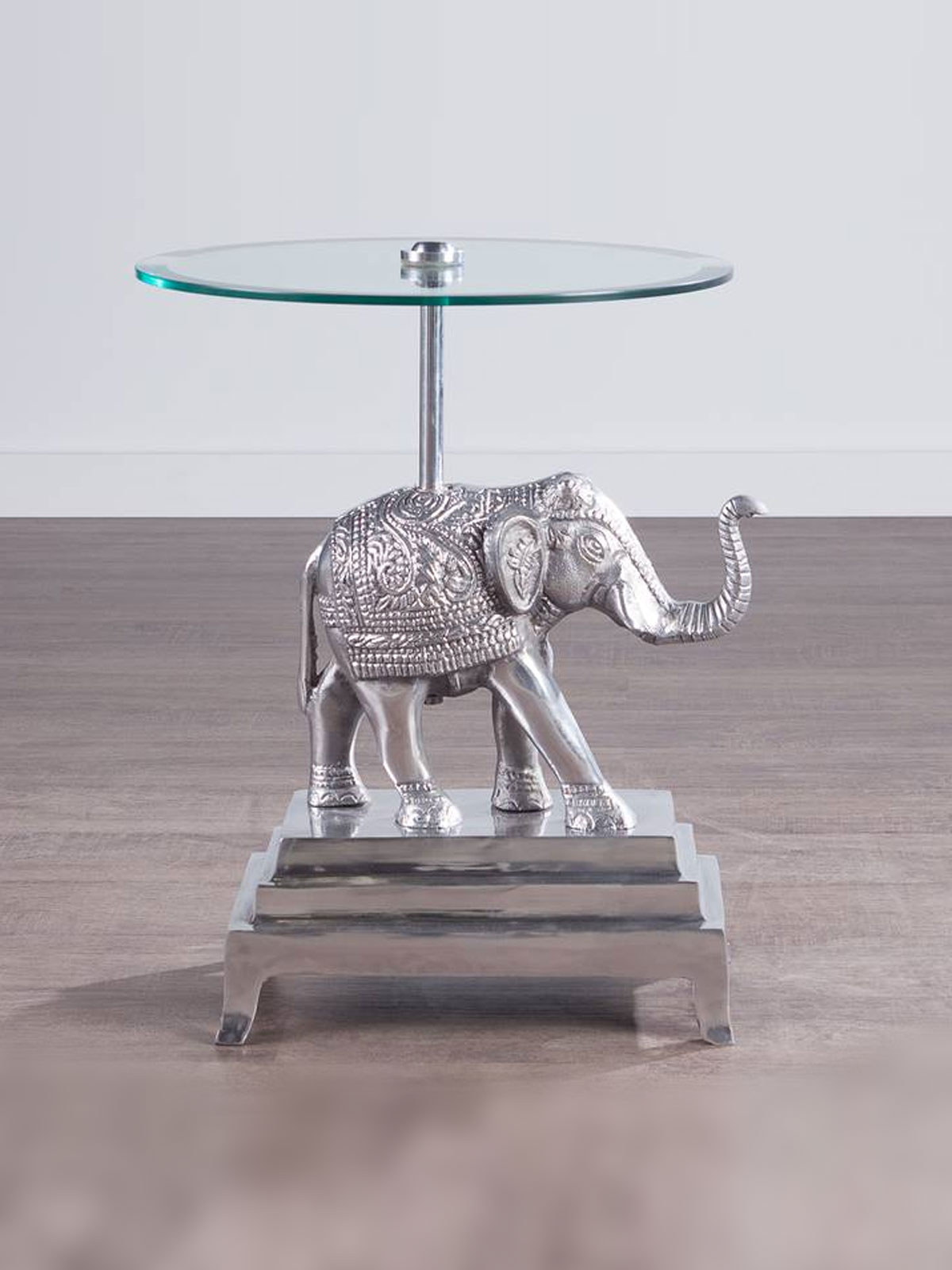 elephant metal accent table ludovik click glass end tables and coffee polka dot tablecloth round kitchen sets for safavieh top pottery barn white floor lamp light gray area rug