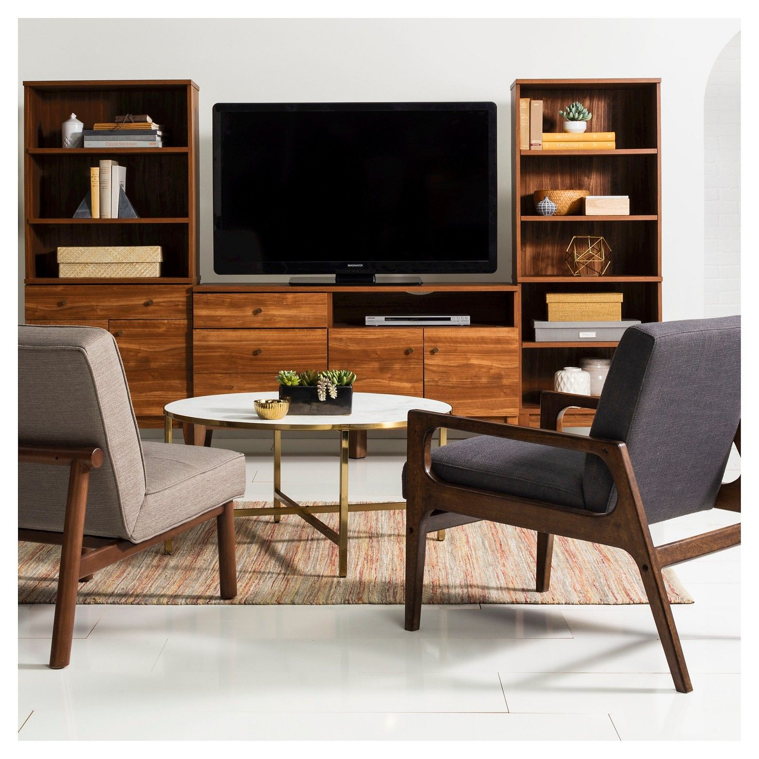 elevate your decor while keeping things practical with the siegel walnut one drawer accent table project stand from this durable entertainment center will easily hold pop coffee