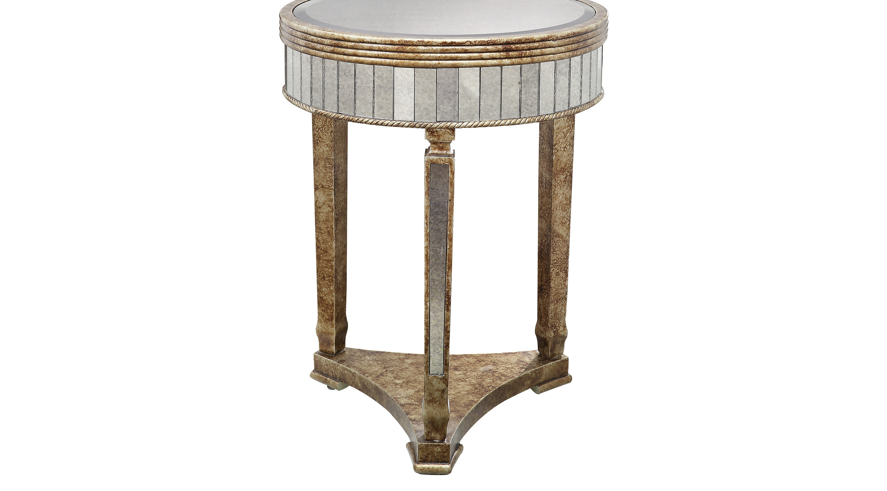 elevonne gold accent table contemporary mirrored round kitchen sets for silver trunk coffee oak lamp patio swing dark pine furniture pier outdoor cushions solid cherry weber grill