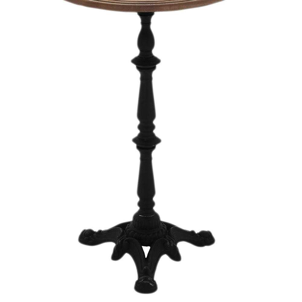elia round pedestal wood and metal accent table free shipping today small night brown side woodbury beautiful headboards safavieh gold end coffee cherry lamp tablecloth for tables