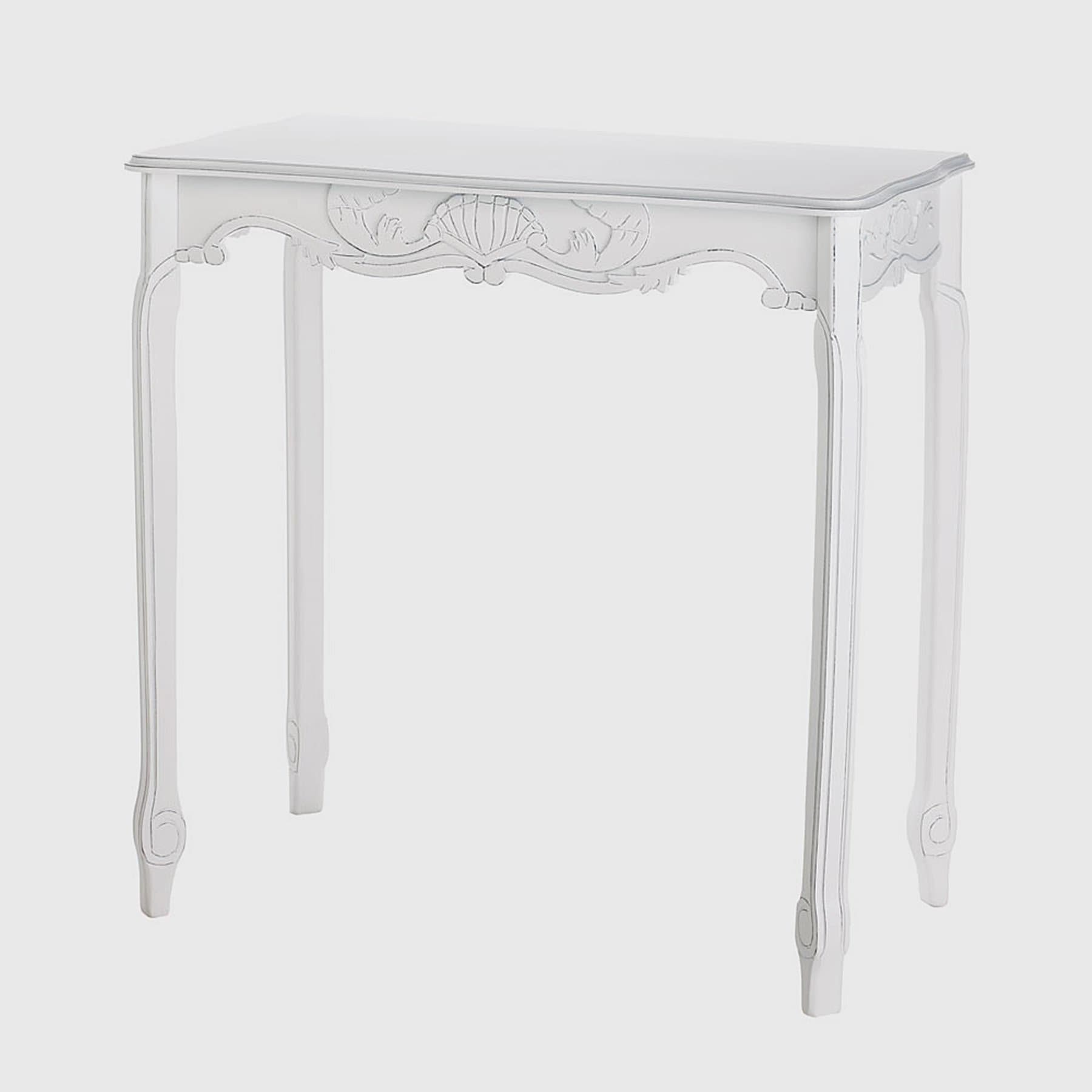 elizabeth antique white accent table free shipping today indoor plant dining cover set meyda tiffany pendant lights glass bedside drawers small round wine end cantilever umbrella