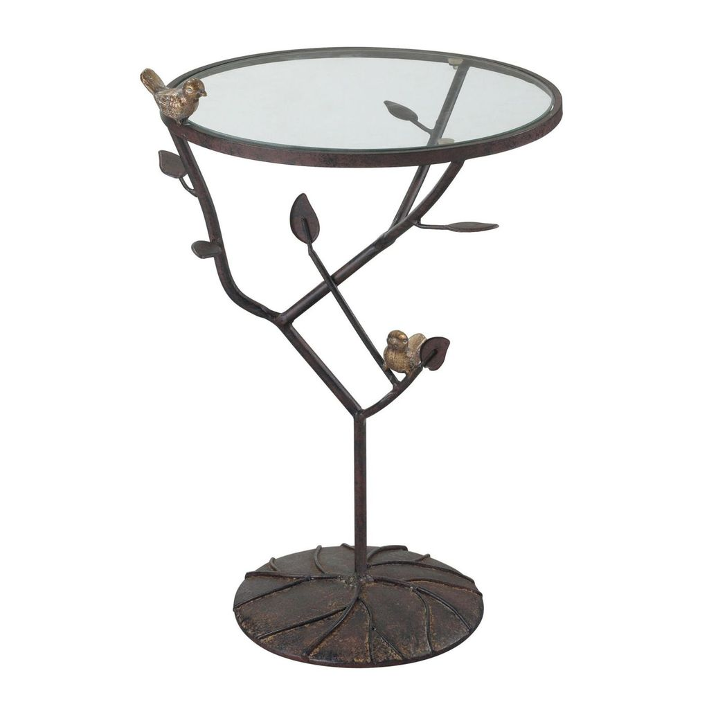 elk group kimberly birds branch accent table bronze with red side tables undertonebirds are gold white antique undertone garden bar ideas small black desk vintage round coffee pub