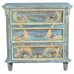 elk lighting chanda blue three drawer accent chest painted tables chests wood living room furniture piece dining set pedestal legs gold color coffee table entrance hall patio 150x150