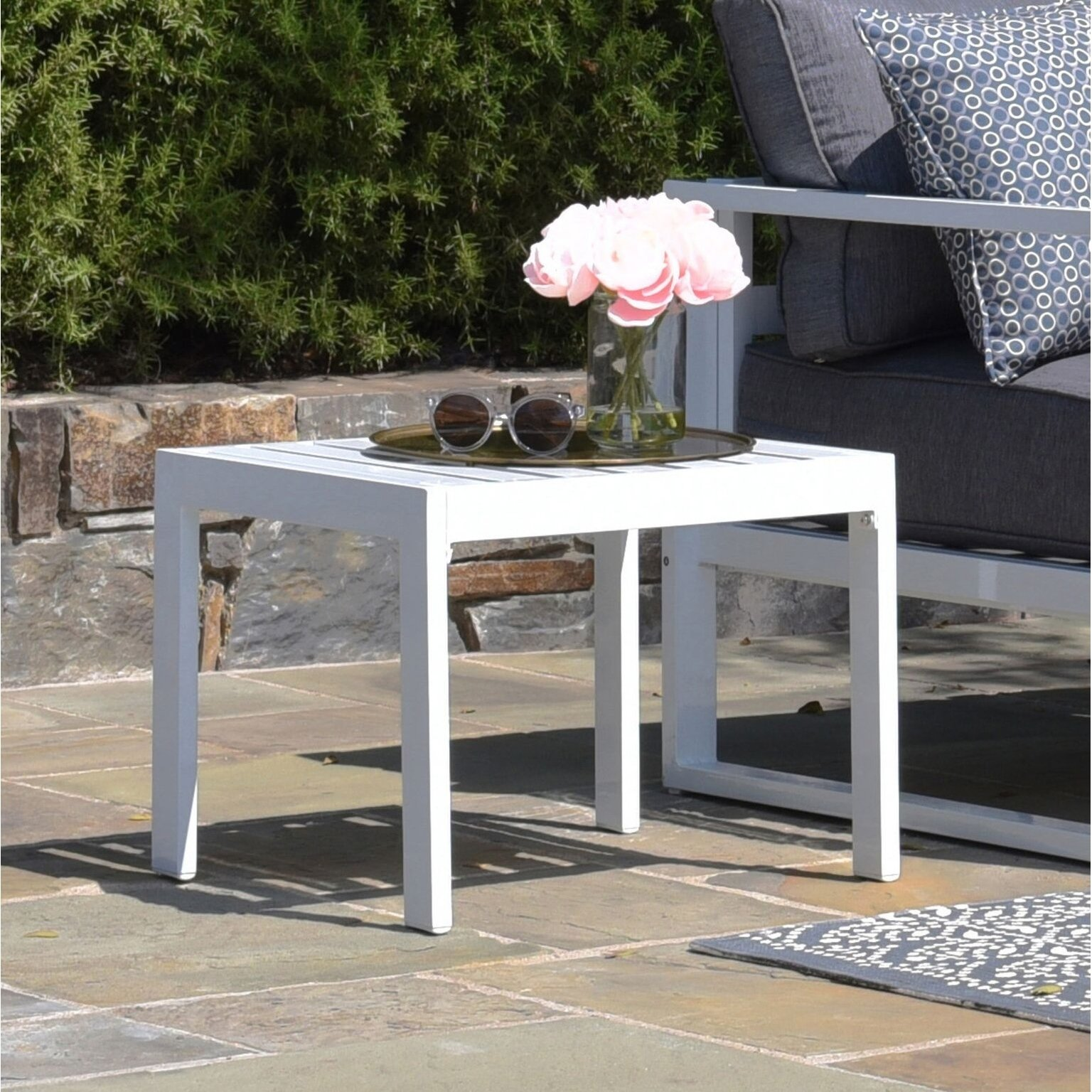elle decor paloma outdoor side table free shipping today gray patio set covers bronze coffee french woodard furniture gold mirrored accent large pub shelby chest round silver