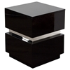 elle drawers accent table high gloss black dcg ellensbl with drawer antique half moon white living room furniture ideas tablecloth for oval dining oak bedside tables round cooler