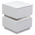 elle drawers accent table high gloss white dcg ellenswh living spaces end tables acrylic coffee glass patio with umbrella hole closeout furniture nesting inch legs person square 150x150
