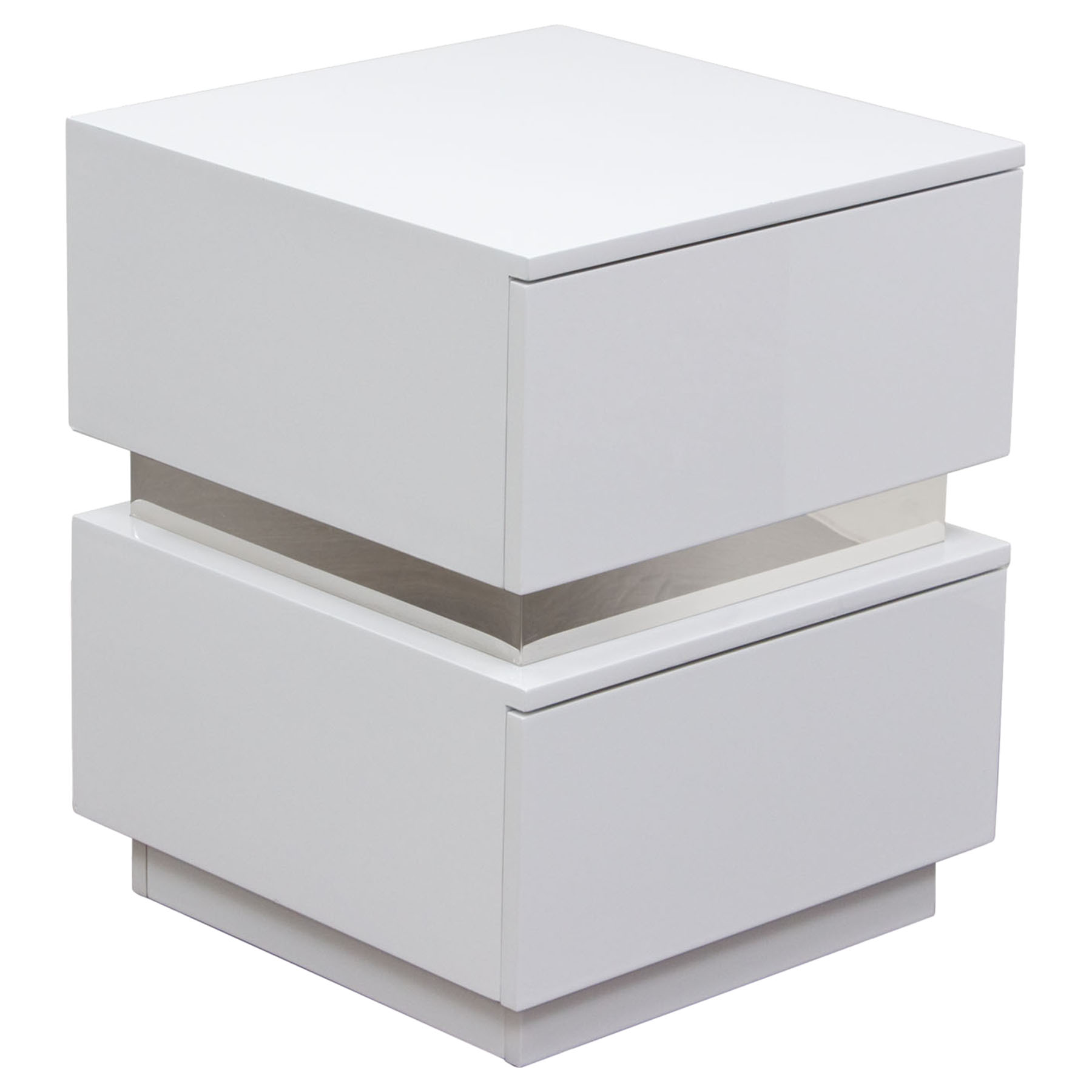 elle drawers accent table high gloss white dcg ellenswh square with drawer small black round mercury glass lamp top side contemporary furniture mississauga darley target pottery