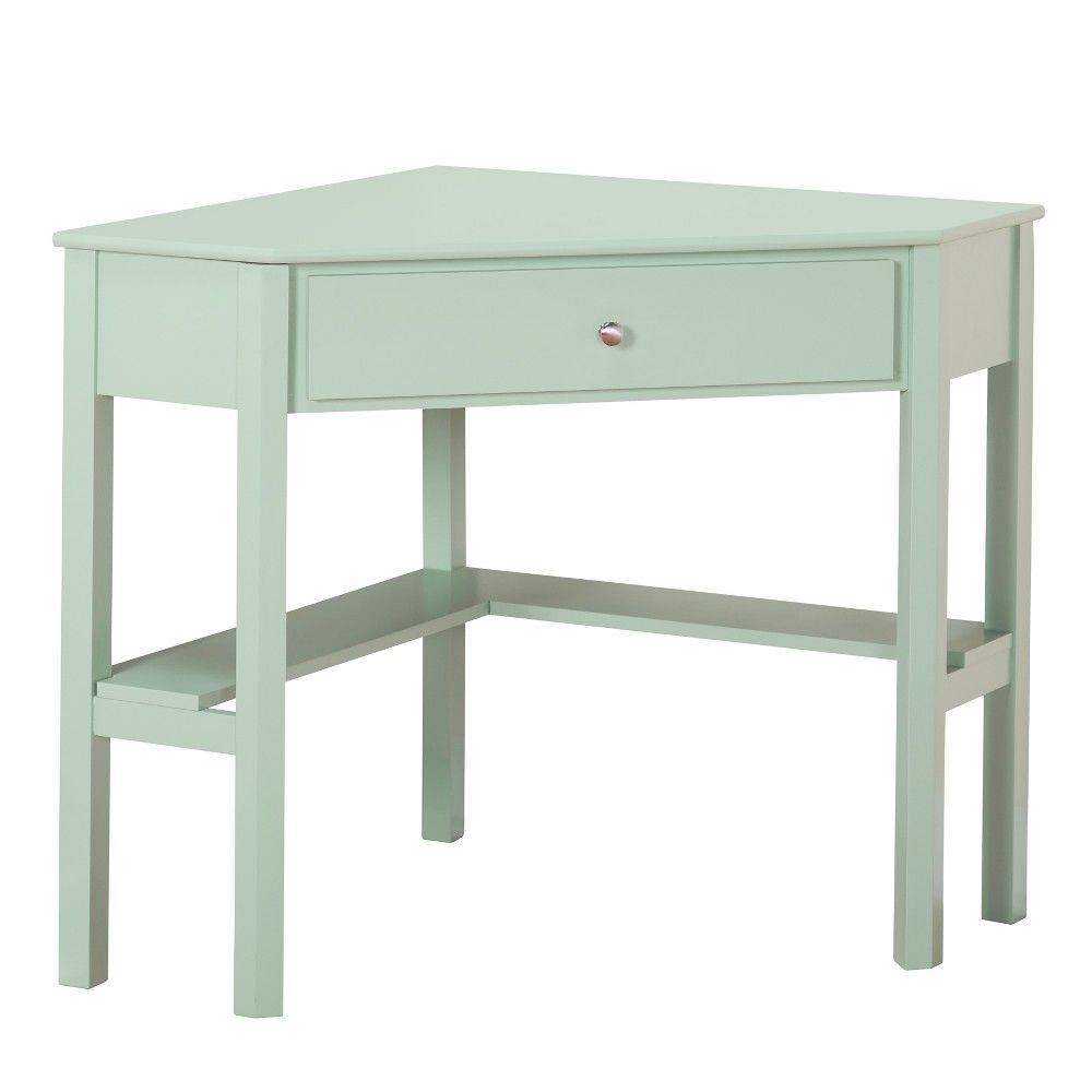 ellen corner desk mint green lateral products owings accent table target west elm chairs long narrow hampton bay chaise lounge cushions distressed blue console little black side