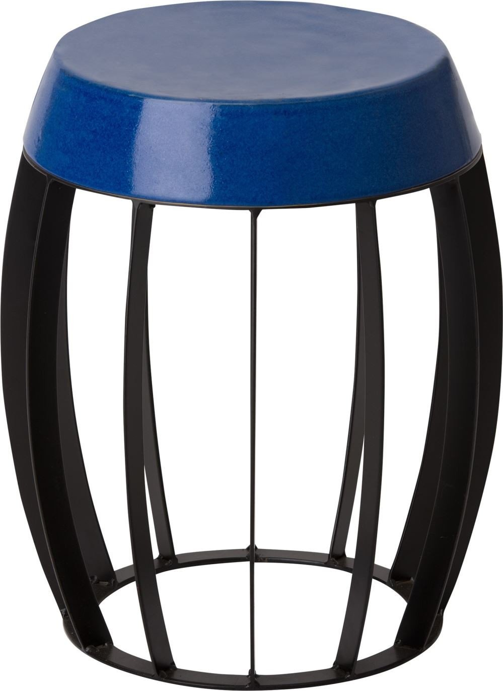 ellis metal stool table powedercoated black with royal blue ceramic top accent stools target bar martha stewart outdoor furniture sofa drawers pier one wicker chair small entry