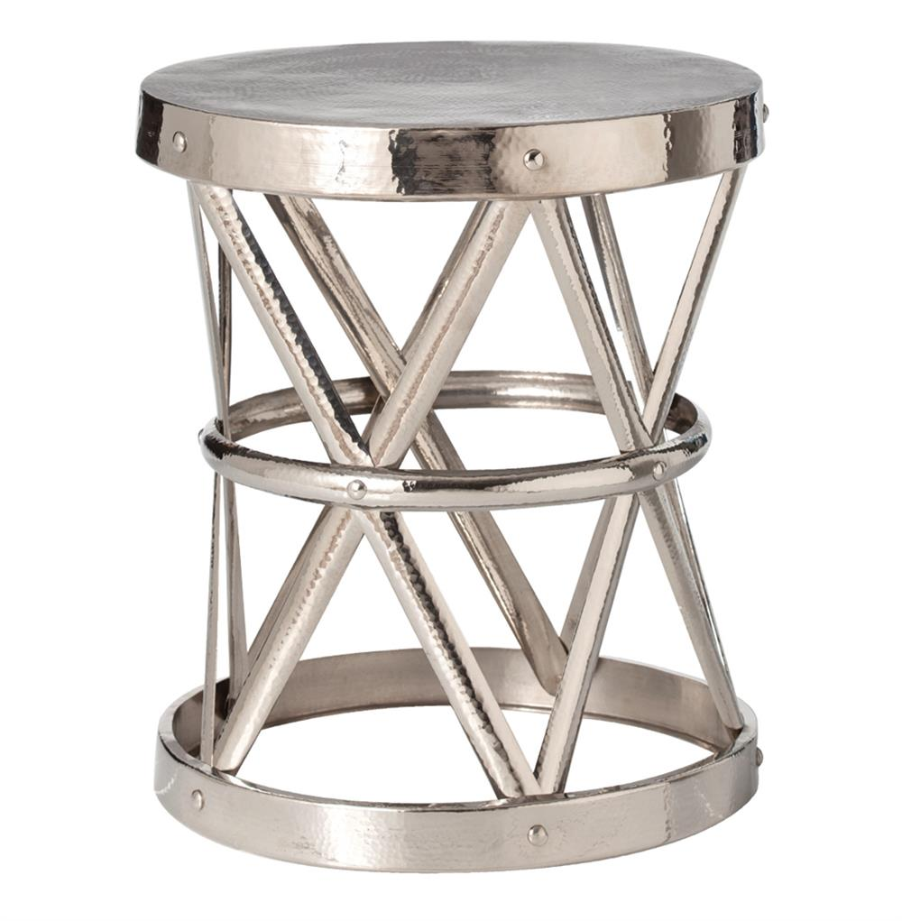 ello polished nickel hammered metal open accent table skinny large tables diy sliding door small narrow end round marble inch tall console huge wall clock linen and tablecloth