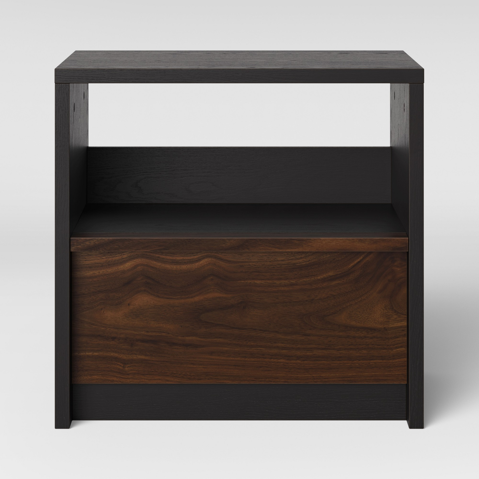 ellwood two tone nightstand grand walnut project products one drawer accent table french coffee dark wood tablecloth size for cocktail and wine rack long pub colored glass small