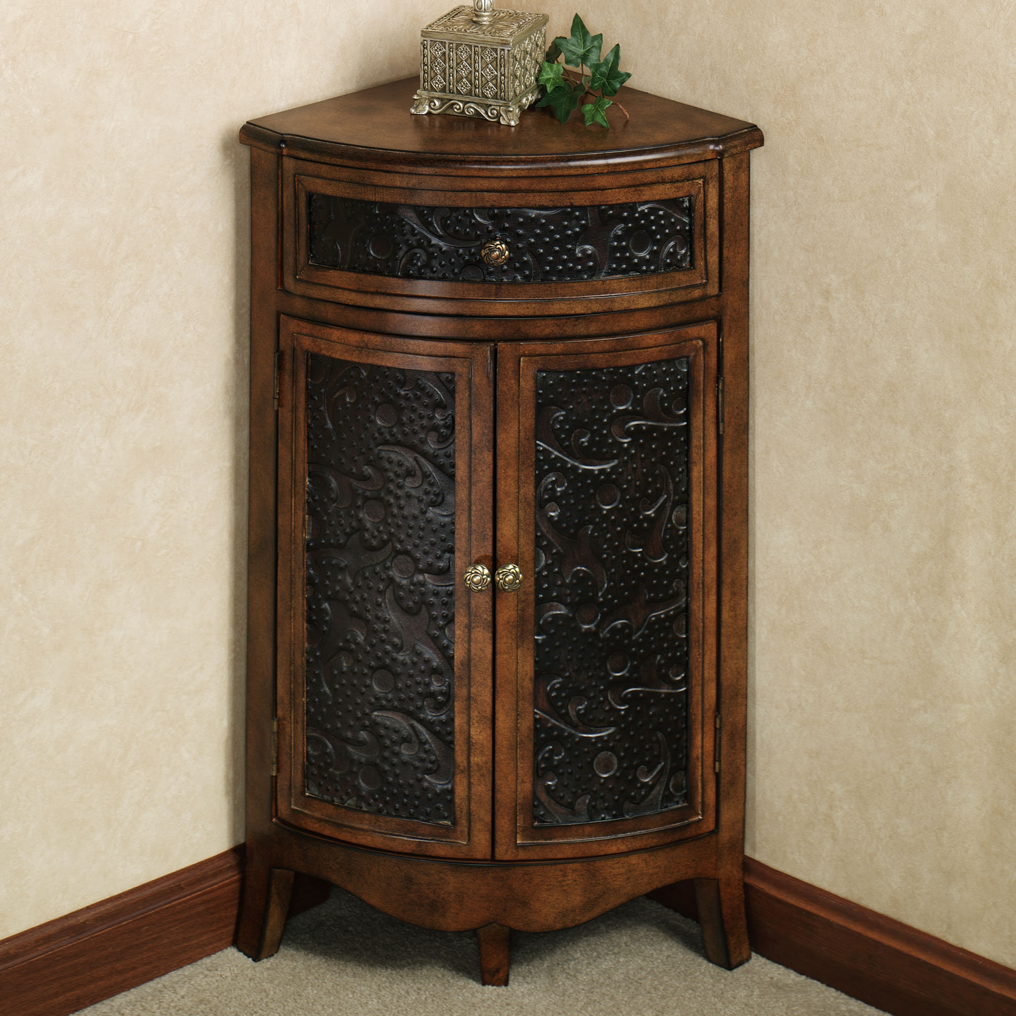 elmhurst black corner accent table with drawer doors wooden trestle bunnings dale lamps dining napkins outdoor accents ceiling curtain rod buffet cabinet miniature gold and mirror