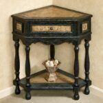elmhurst black corner accent table with drawer drawers touch zoom set side tables furniture bedside charging station half round wall small moon hall wrought iron lamps light 150x150