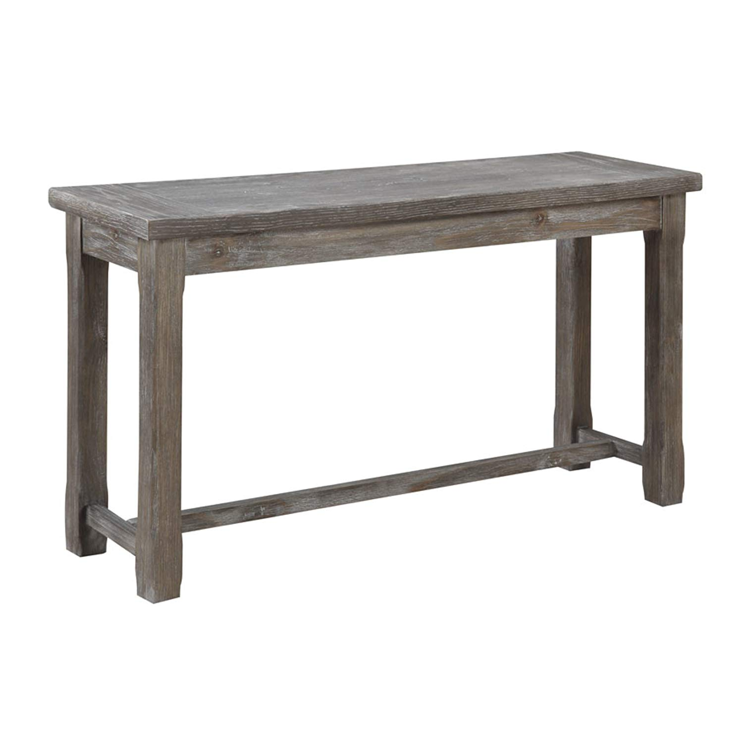 emerald home paladin rustic charcoal gray sofa table green accent with plank style top and farmhouse timber legs kitchen dining white sliding barn door lamps usb unique furniture