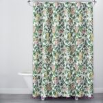 emily henderson top from target opalhouse launch brit parrot shower curtain tachuri geometric front accent table brown alfama print with tassels green yellow this fantastic 150x150