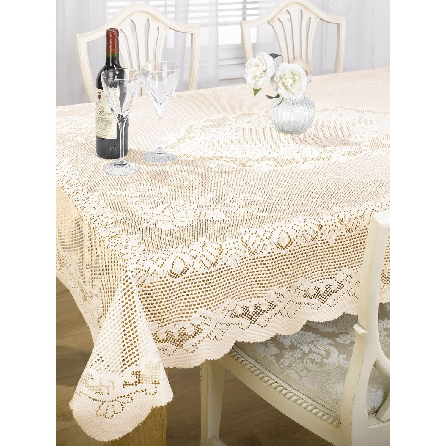 emma barclay the fine dining classics collection chantal niptdgal round accent tablecloth lace sizes cream home kitchen industrial small table porch glass and gold coffee outdoor