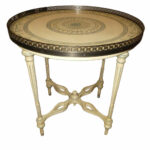 encore furniture gallery hand painted accent table with pierced round lamp end metal brass italian neoclassical barn door window shutters small oak kartell side large oriental 150x150
