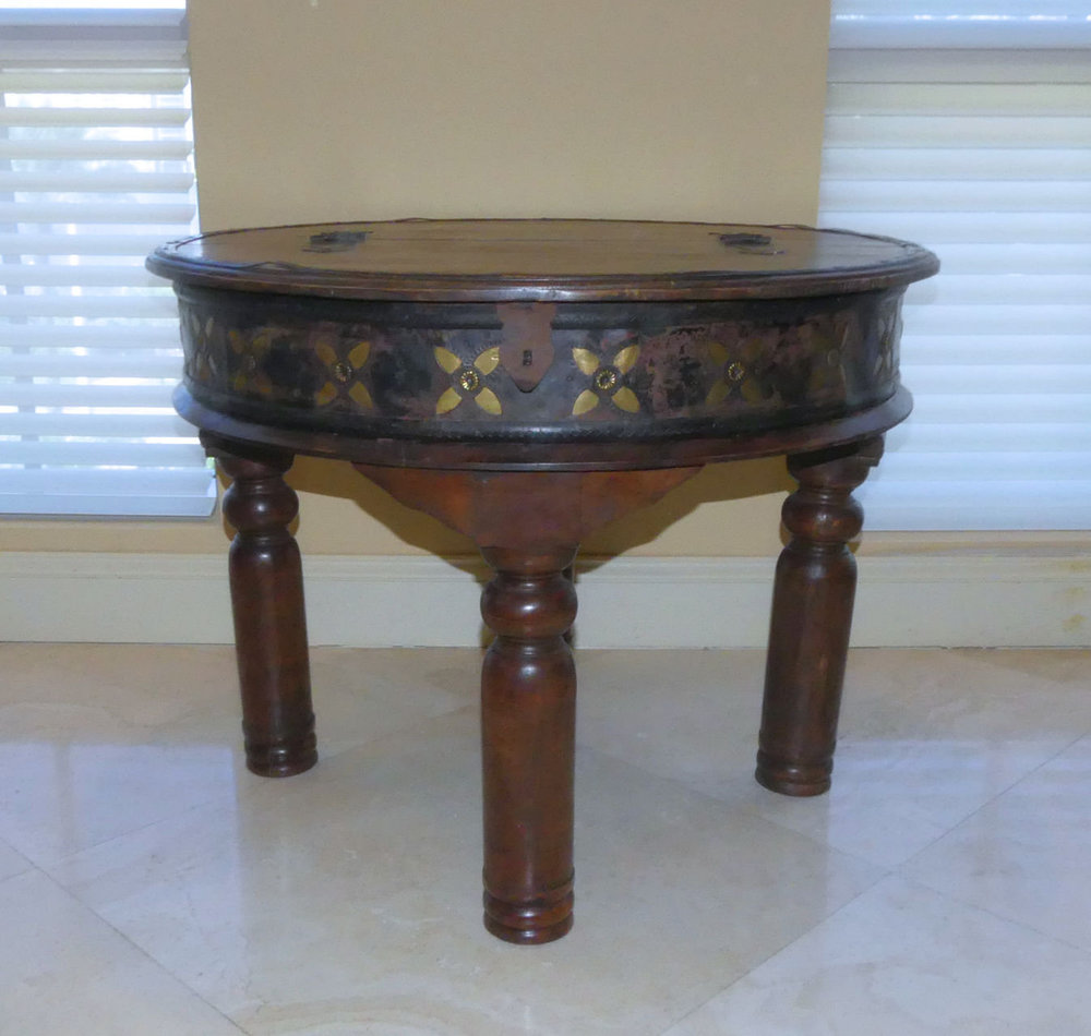 encore furniture gallery vintage rustic storage end tables with accent table tooled metal accents top long wooden behind couch west elm parsons coffee home theater seating