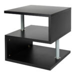 end side table night stand sofa bedside accent living room with shelf bistro pub half moon decor cylinder lamp modern solid wood coffee and tables ikea storage low for vinyl floor 150x150