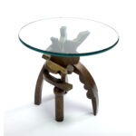 end table covers probably outrageous best idea garry knox bennet wexler gallery web bronze patinaed cast glass piece dining set walnut grain butcher block silver small side 150x150
