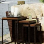 end table decor round side metal tables white lamps marble top chairs and coffee low for living room accent modern home furniture asian stand bar turquoise console pottery barn 150x150