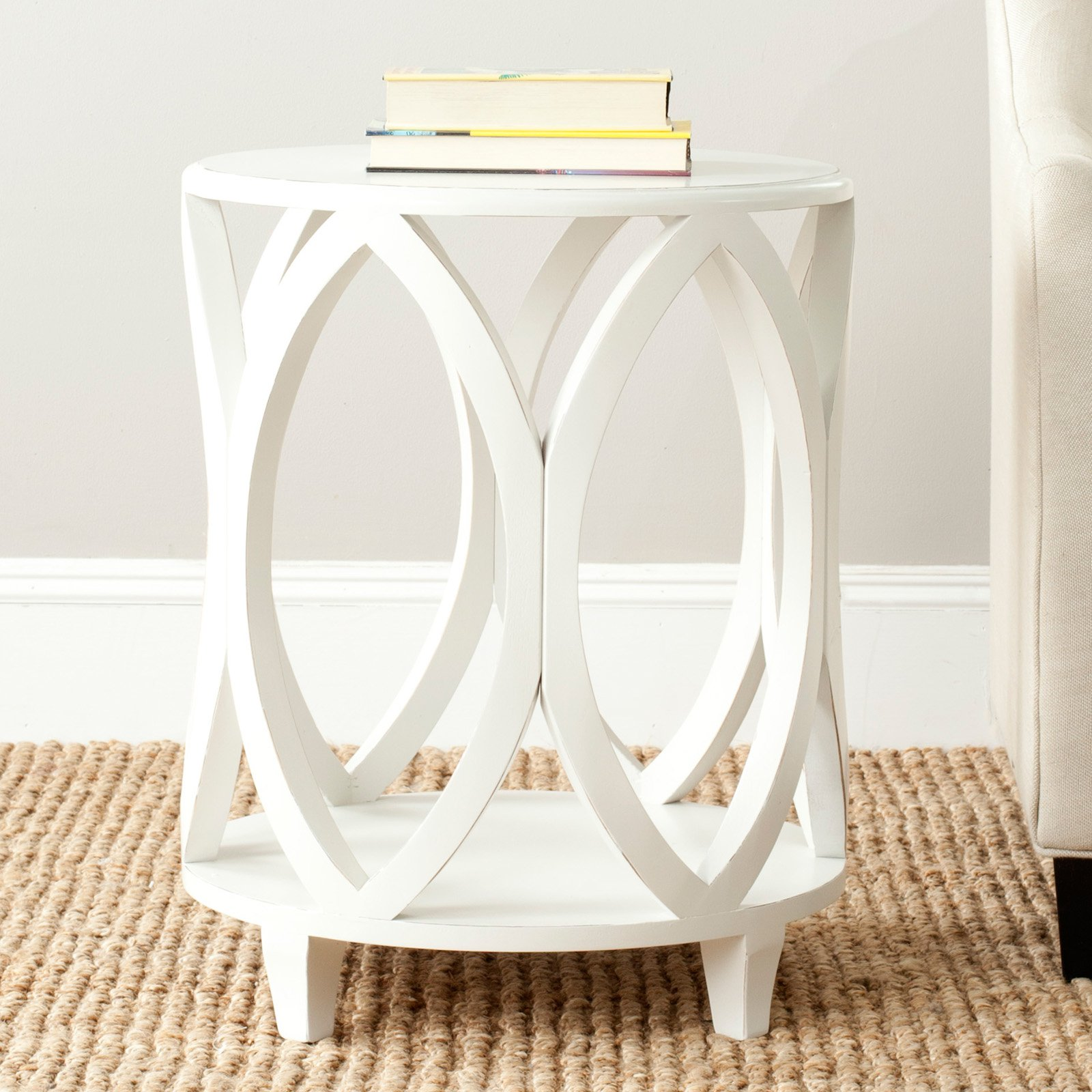 end table distressed off white uptownartsgranburytx safavieh janika accent tables bedroom set plant stand round marble dining dark wood furniture bathroom faucets room edmonton