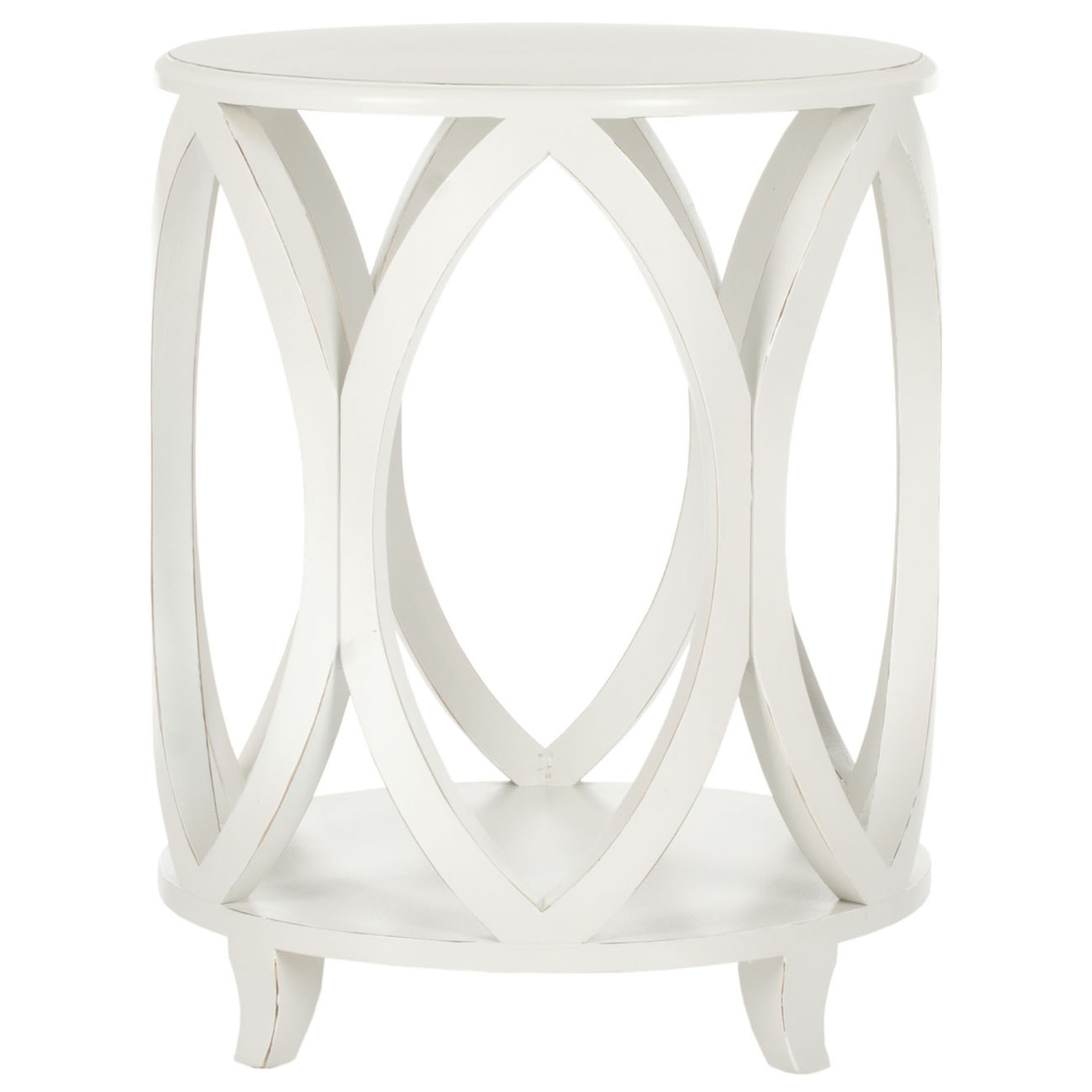 end table distressed off white uptownartsgranburytx safavieh janika round accent sauder milled cherry mirror side living room antique that folds out unfinished tables floral