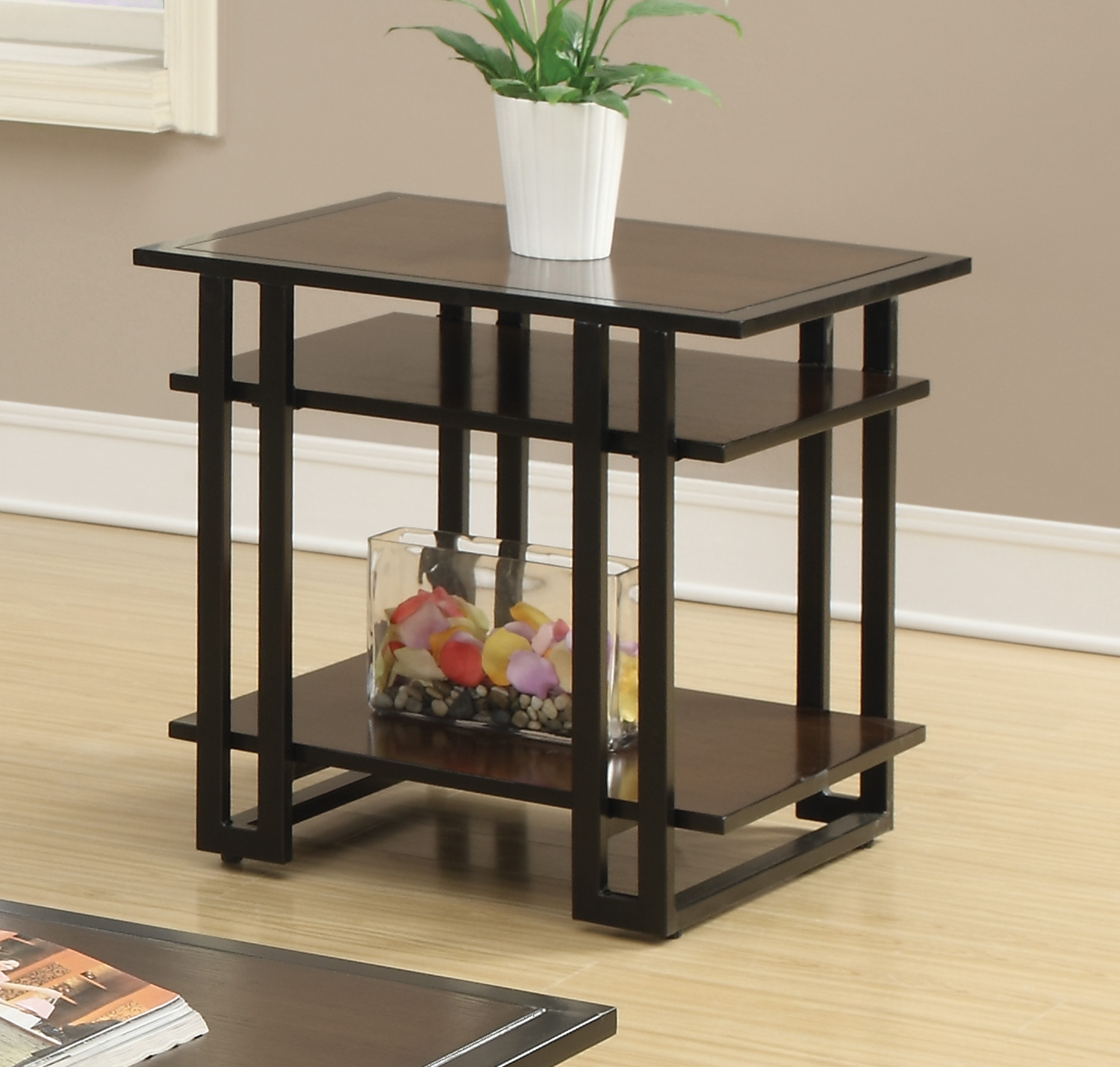 end table lamp furniture living room coaster traditional cherry finish brown lantern floor gray mainstays nightstand black ebony ash neptune drawer tall square side round coffee