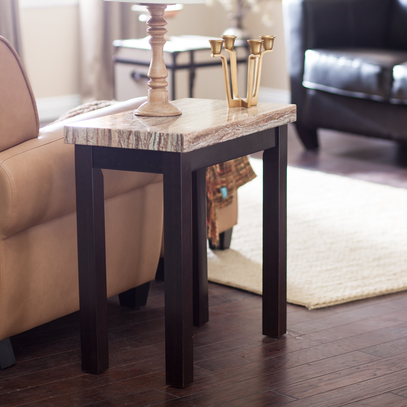 end table marble top coffee small side antique tables with high dining set distressed wood headboard ethan allen country crossings magazine rack lamp christmas centerpiece ideas