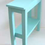end table narrow side chairside tables wood etsy fullxfull aqua blue accent oval dining cover small round cherry patio bistro set white chair outside knotty pine art deco lighting 150x150